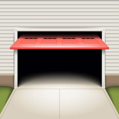 Empty garage background