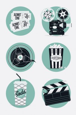 Home cinema icons