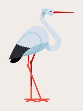 stork bird icon