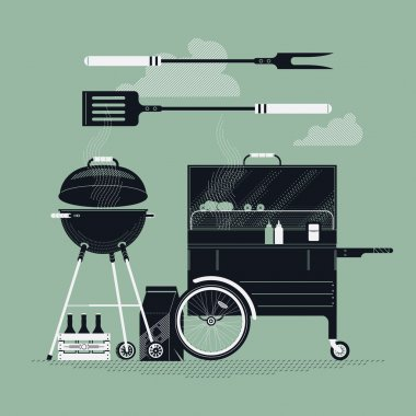 barbecue cooking items
