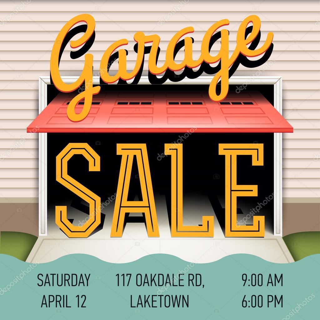 Garage oder Hof verkaufen-Ereignis — Stockvektor © masha_tace #74088535