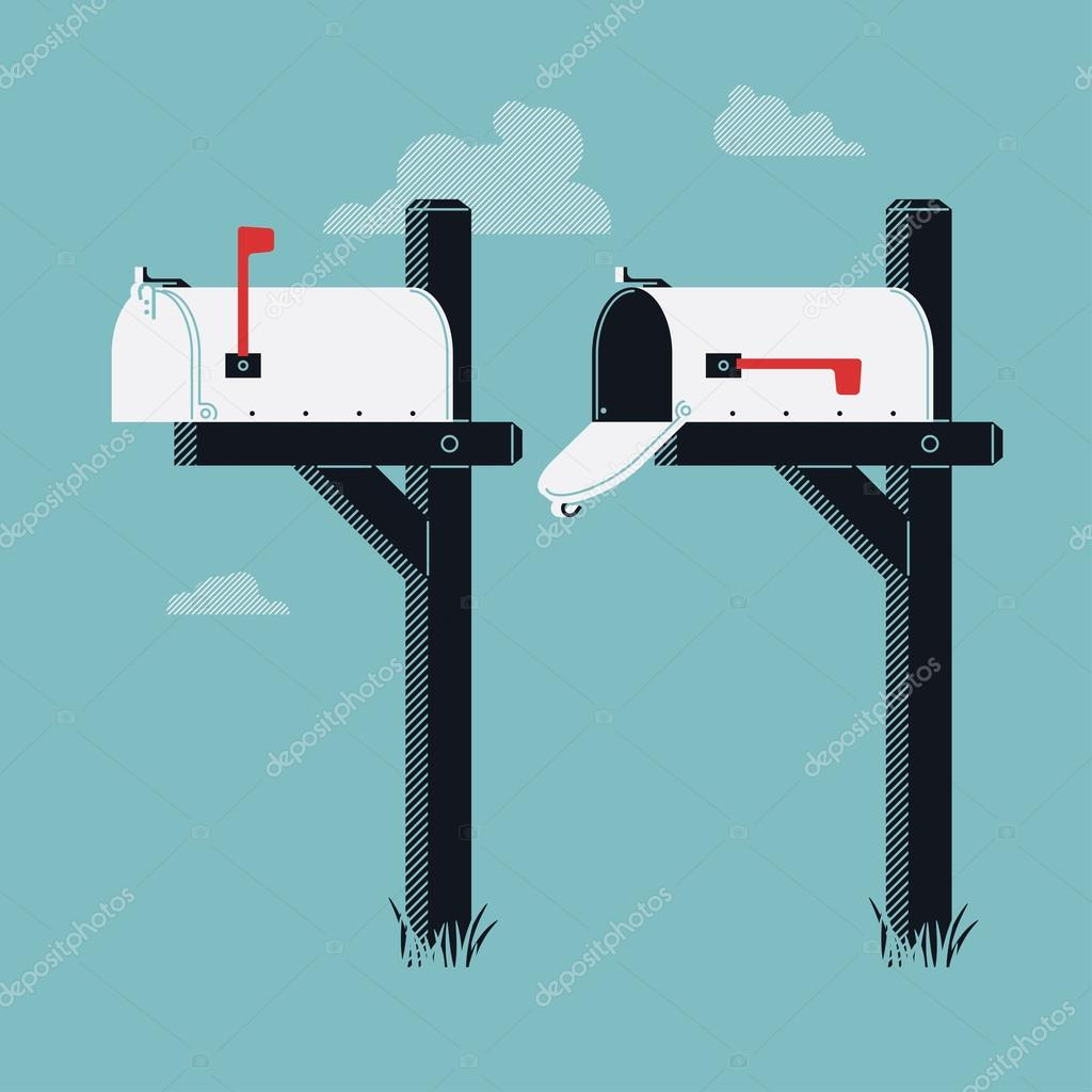 closed mailboxes with semaphore flag