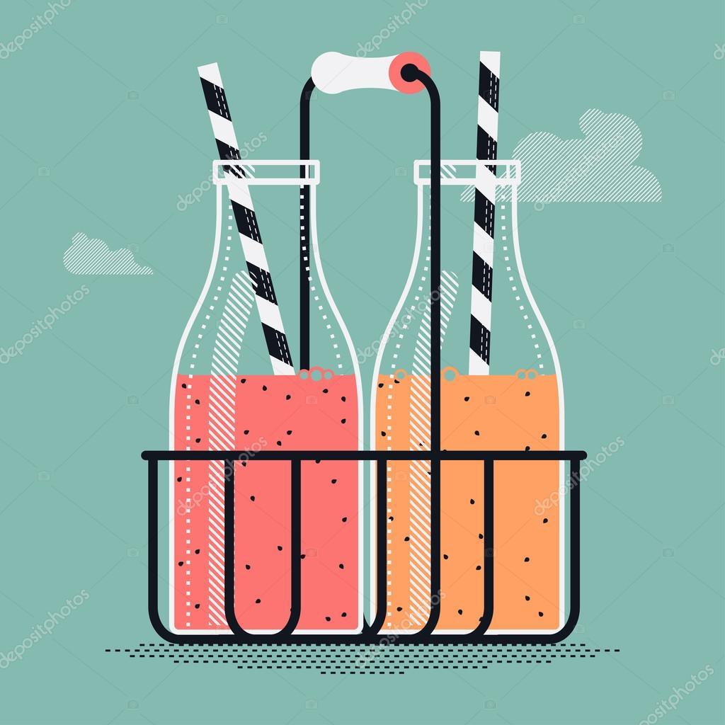 Smoothies und Bio-Getränke — Stockvektor © masha_tace #74089033