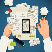 Kreatív papír felhasználói felület prototípus