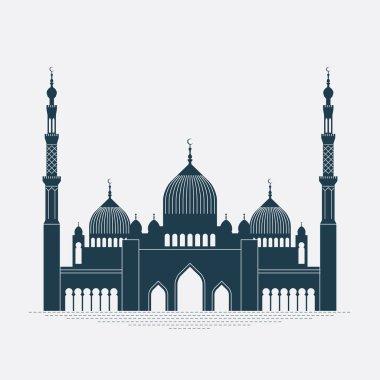 detailed mosque contour.