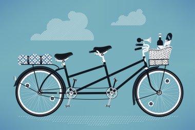 Old fashioned tandem bike