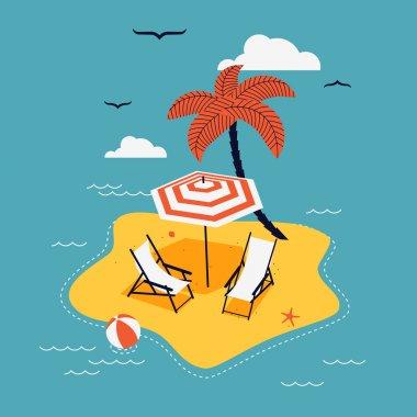 chaise lounge and parasol umbrella sunshade