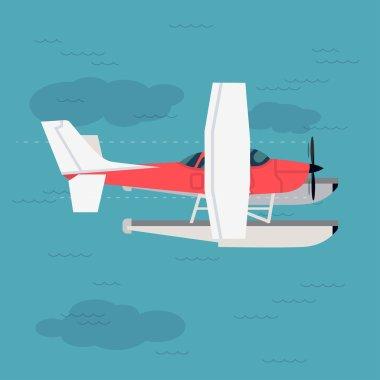 Cool flat design aviation
