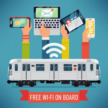 Subway underground train   with wi-fi