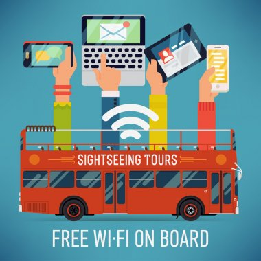 bus with wi-fi access
