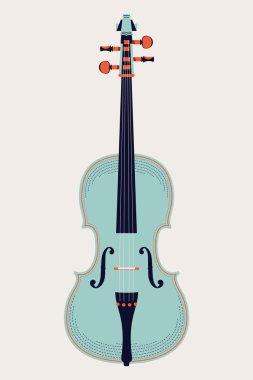 Colored classic violin