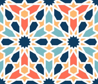Colorful traditional arabic pattern