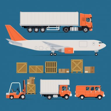 cargo transport icons