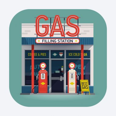 gas filling station icon