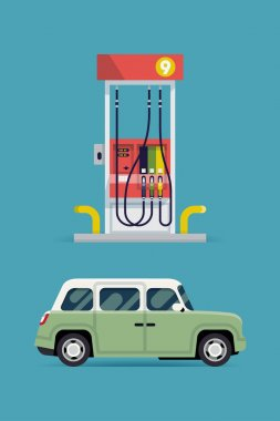 transport with gas station pump