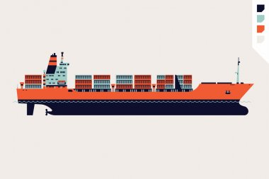 Cargo shipping design element.