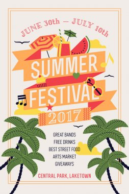 Beautiful summer festival web banner