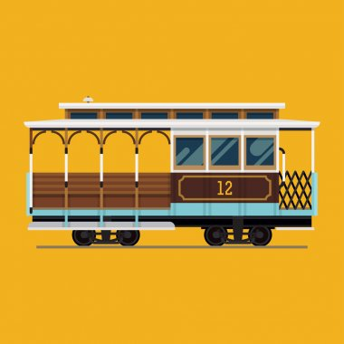 Lovely retro detailed cable car