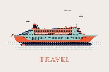 'Travel' printable poster - liner ship
