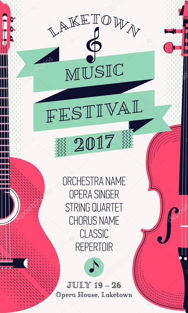 Modern classical music festival poster