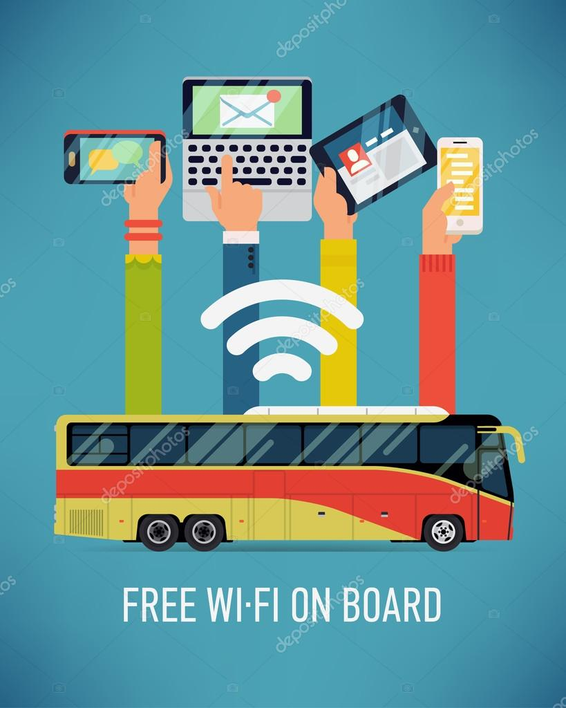 bus with Wi-Fi access.