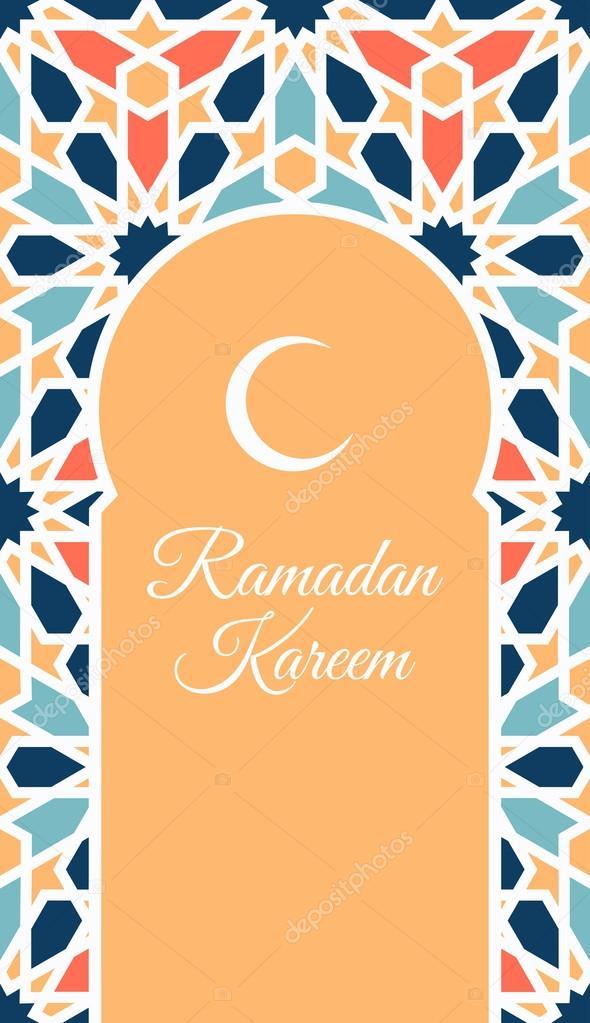 Generous Ramadan with traditional arabic pattern