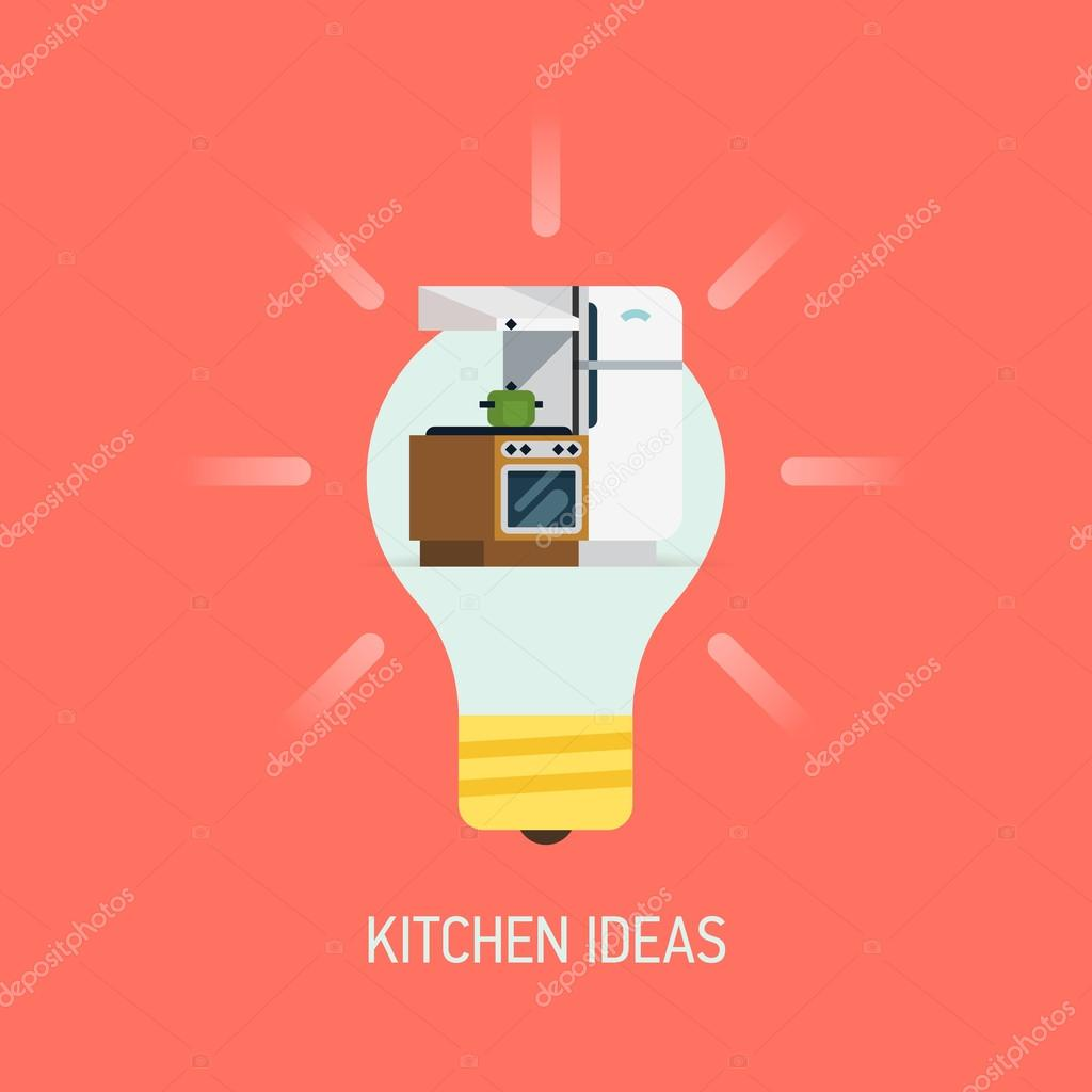 Innenausbau Küche Ideen — Stockvektor © masha_tace #79018274