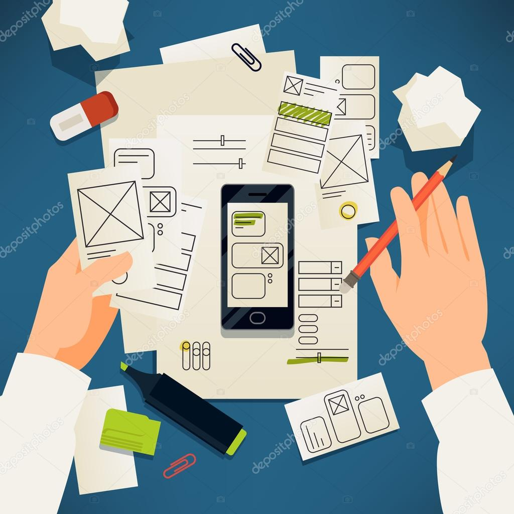 Creative paper user interface prototyping