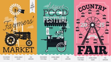 Three creative poster templates