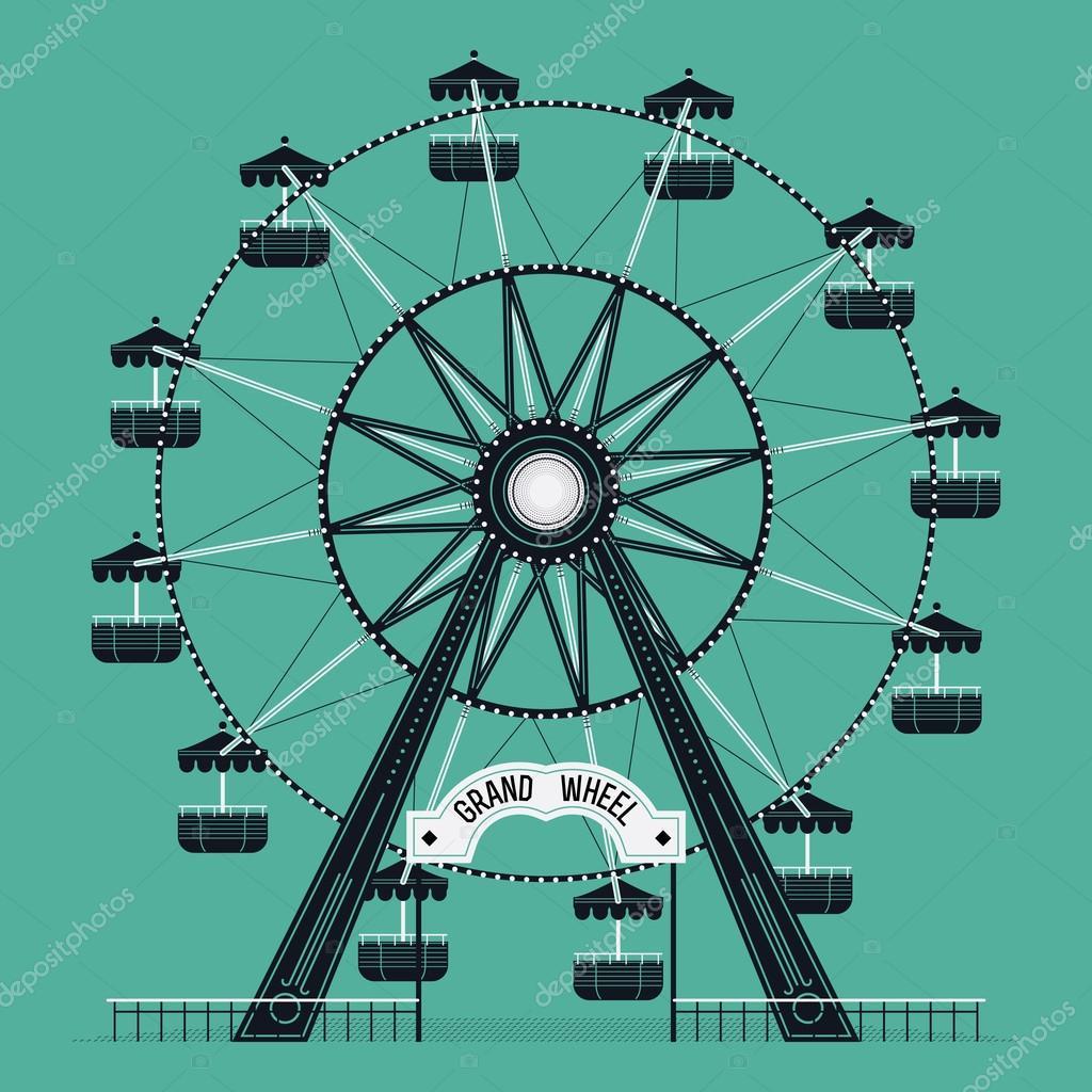 ferris wheel old fashioned