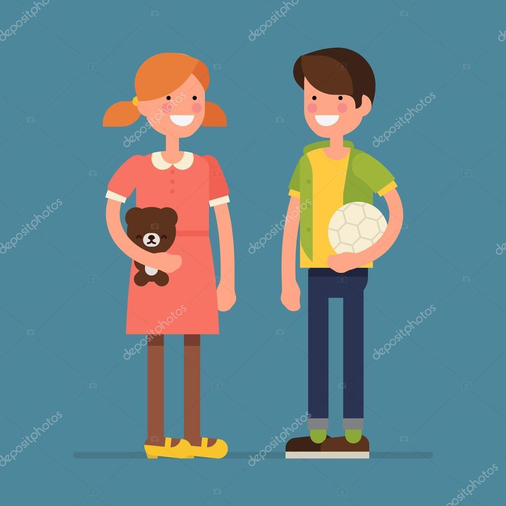 boy and girl kids