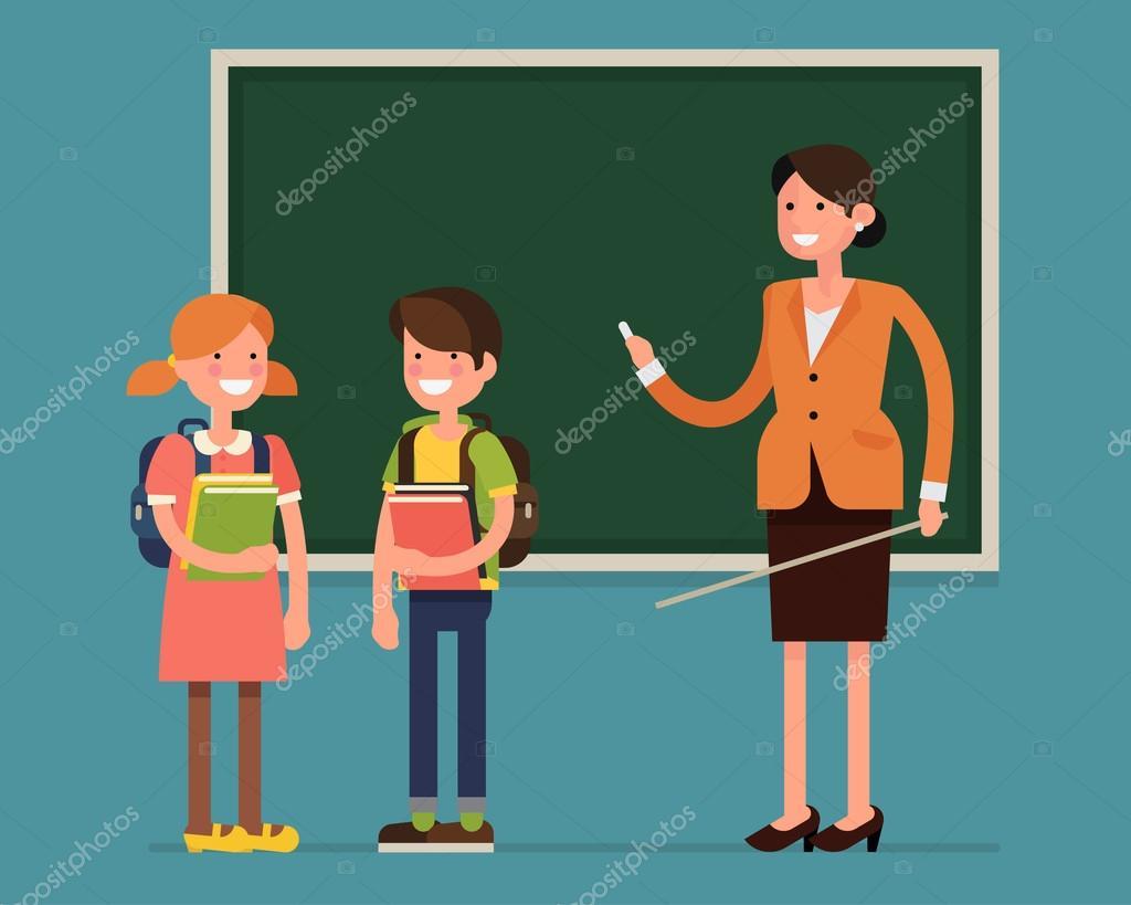 school children students and teacher