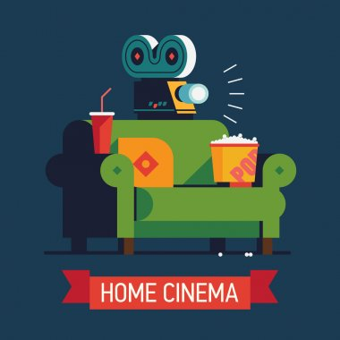 Home Cinema  flat design
