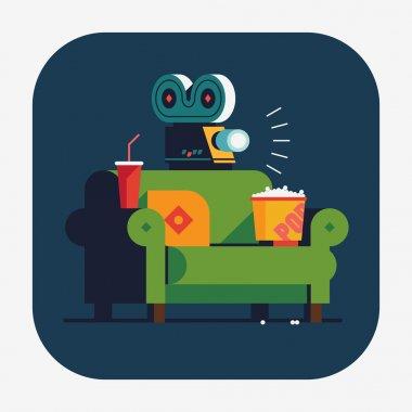 Home movie watching
