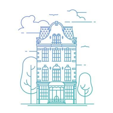 Lovely linear town building facade