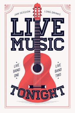 'Live Music Tonight'   poster