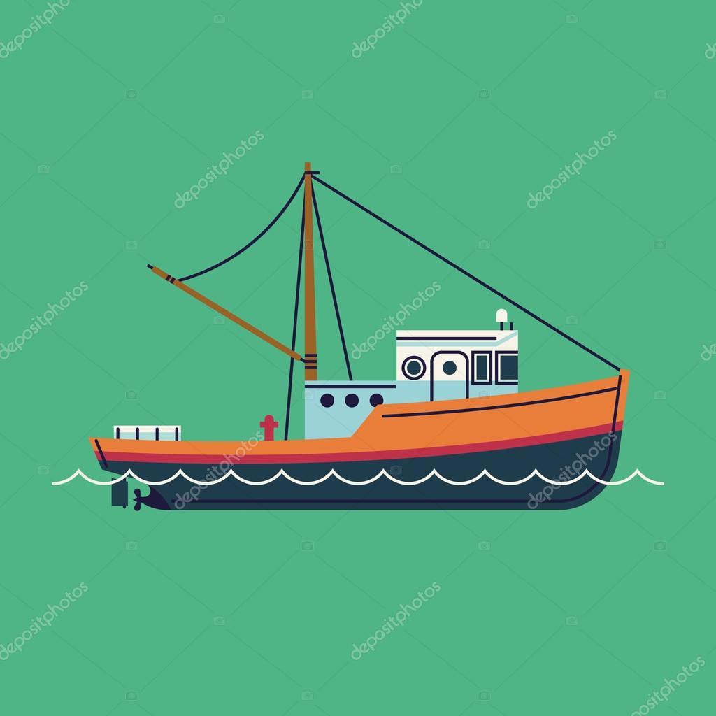 1024x1044 Coloring Fishing Boat Pages Vector Of A Cartoon Fish