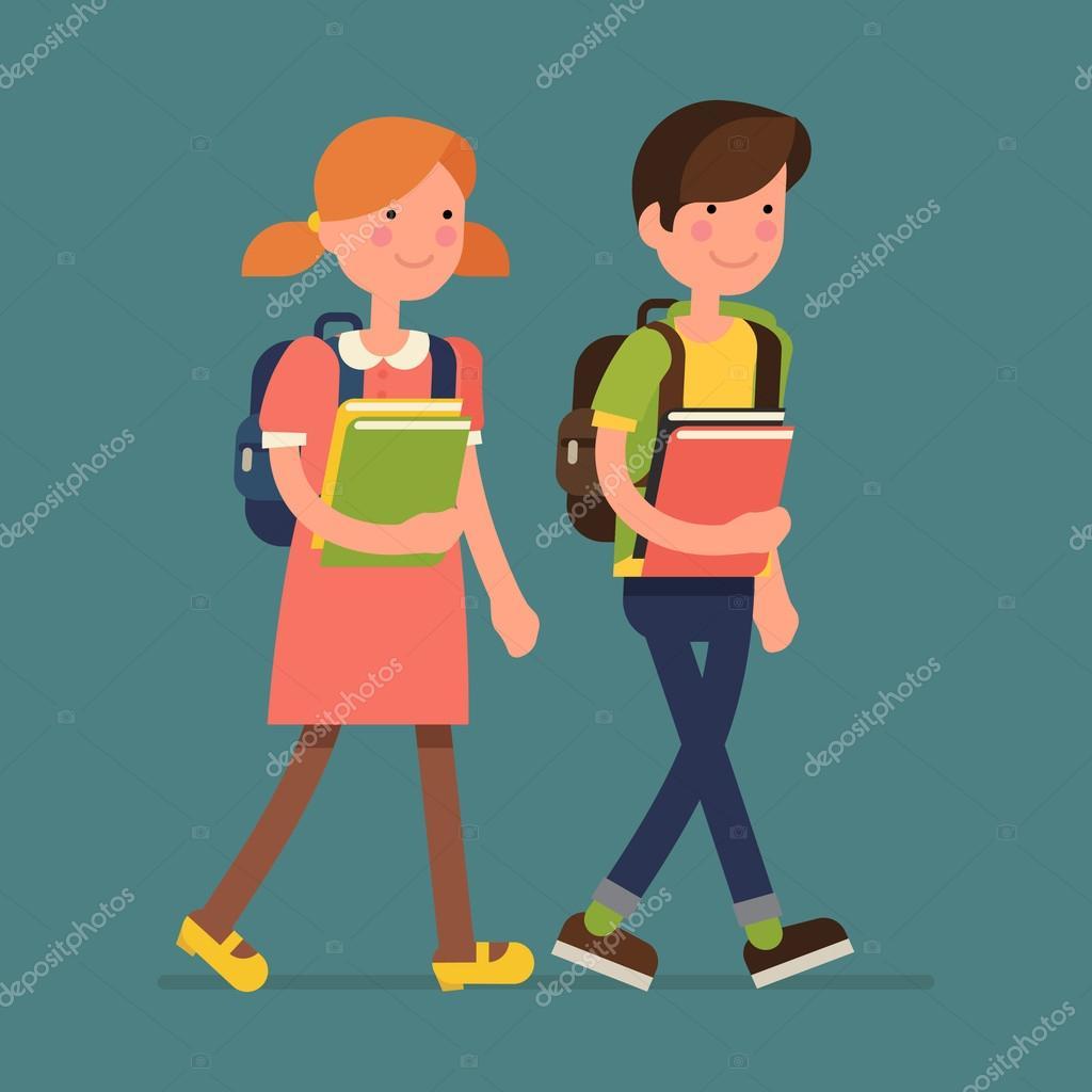 boy and girl kid characters