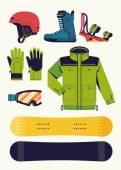 Snowboardové vybavení návrhové prvky