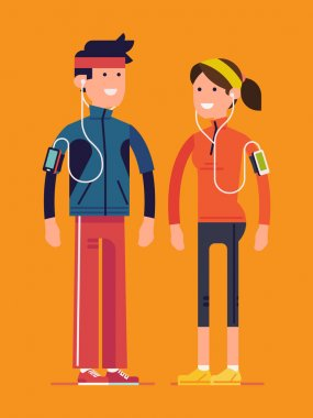 character design on runners couple.