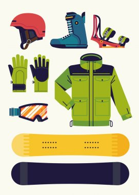 Snowboarding gear design elements
