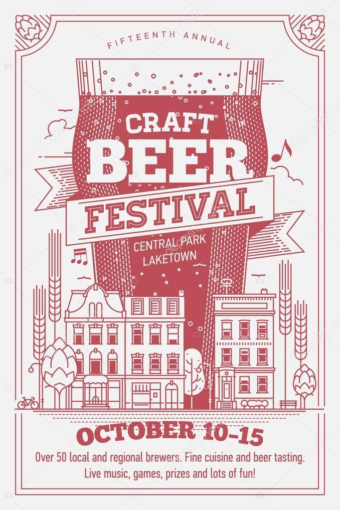 Beautiful Octoberfest beer festival