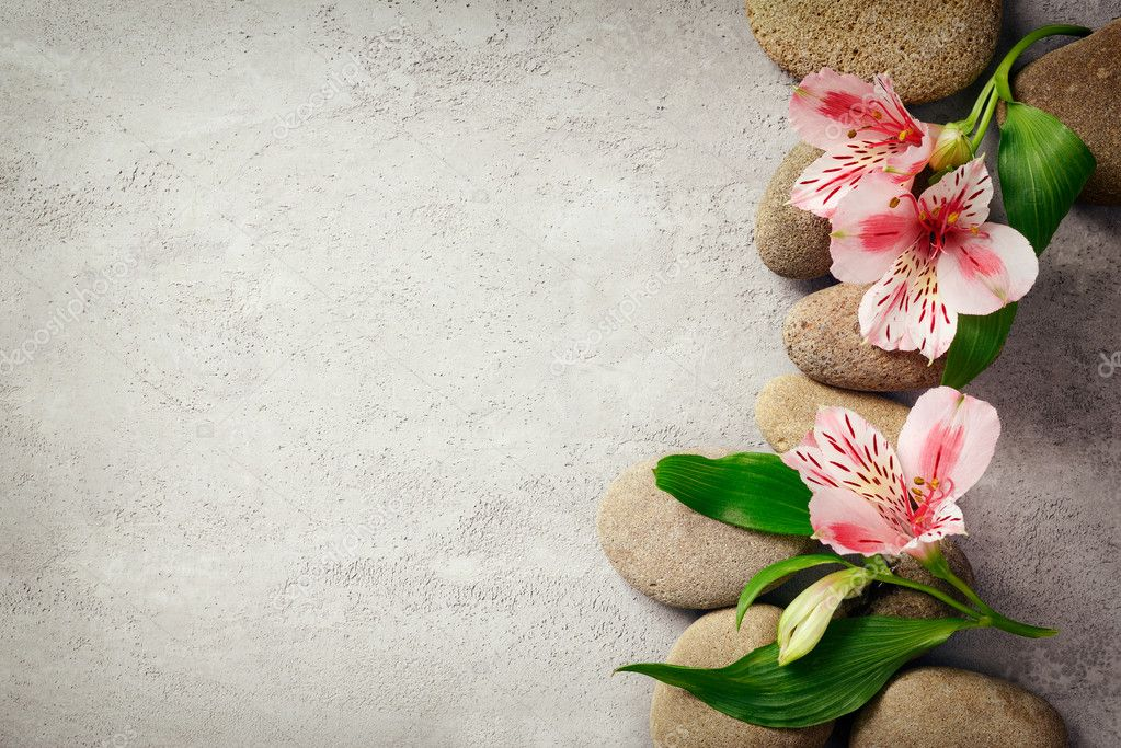 spa background with flowers stock photo fortyforks 100788022