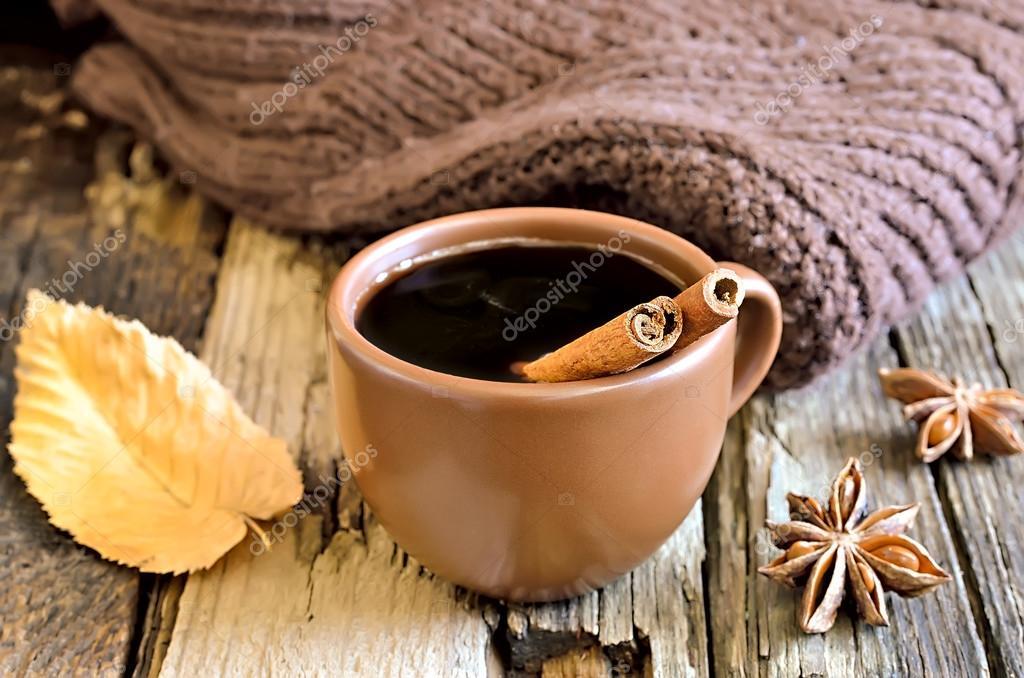 authum morgendliche kaffeetasse  stockfotografie