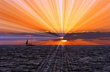Sailboat Sunset Journey