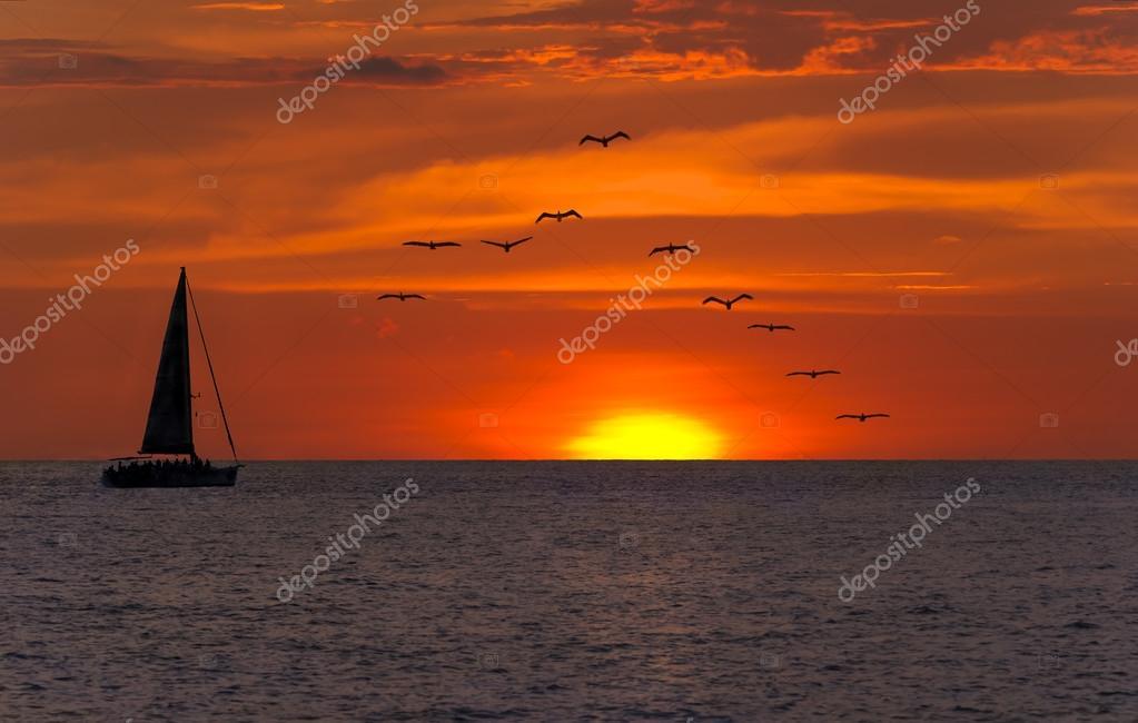 Sailboat Sunset Fantasy