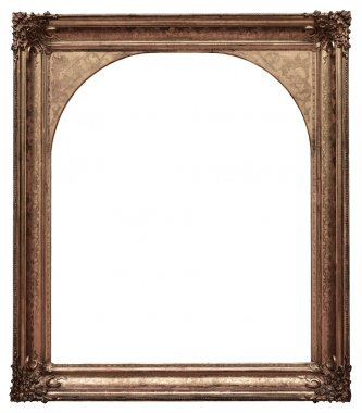 Vintage wooden frame isolated on white background stock vector