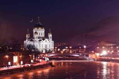 Cathedral of Christ the Saviour in night