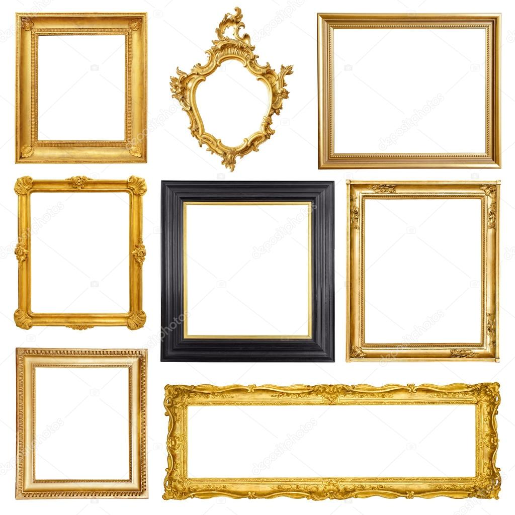 Set of golden vintage frames — Stock Photo © ZakharovEvgeny #103701058