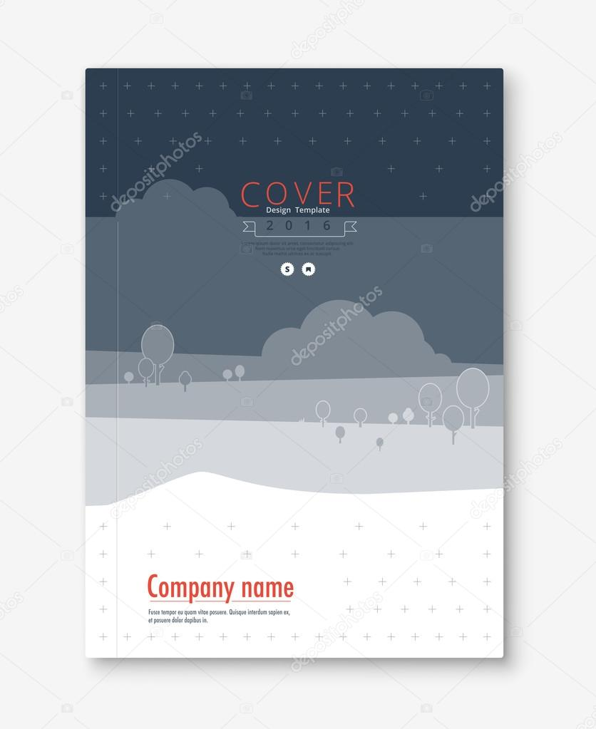 Diseño de cubierta de informe anual. libro, plantilla de folleto ...